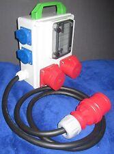 Stromverteiler,Adapter 32A auf 2 x 16A CEE 5polig,2x Schuko 230V