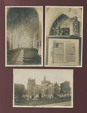 Devon OTTERY ST MARY Church x3 c1920/30s? RP PPCs