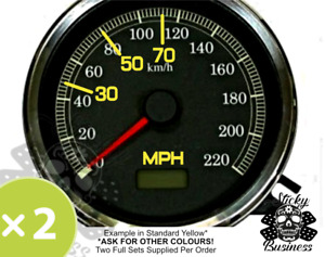 MPH to KPH speedo stickers Motorbike Car Truck Grey Import Conversion 9 COLOURS