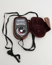 Weston Master II Universal Exposure Light Meter +Leather Case & Strap Model 735