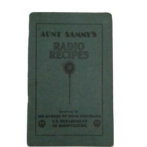 Aunt Sammy's Radio Recipes Vtg 1927 Recipe Booklet Cookbook USDA Home Economists