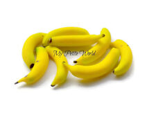 1:12th scale Dolls House Miniature Bananas x8-Food-Grocers-accessory-fruit-shop