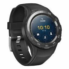 Huawei Watch 2 Ceramic 30mm Plastic Case Black Rubber Strap (Unlocked) - (10707500)