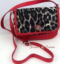 NWT COACH PARK OCELOT PRINT Violet CROSSBODY Bag Handbag F 24103 Black Multi
