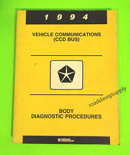 1994 Chrysler Dodge Jeep CCD Bus Body Diagnostic Service Shop Manual Book