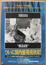 NIRVANA Bleach 1992 JAPAN ORG Debut Release Promo POSTER (on Foamcore) COBAIN