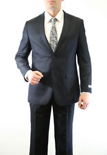 Fl3s1423 Midnight Blue Men 3 Pcs Slim Fit Suit Solid Shiny 2 ...