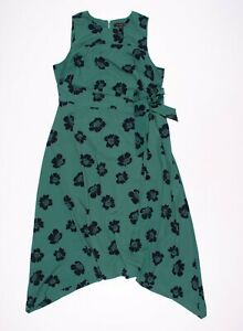 A Pea In The Pod Green Floral Sleeveless Maternity Midi Dress Size L Large