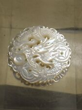 30mm Carved Dragon Chasing Pearl Of Wisdom Mother Of Pearl #230