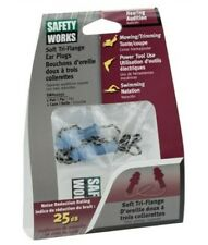 Safety Works Swx00231 Corded Tri Flange Ear Plugs With Case Nrr 25 Db