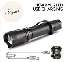 Tactical Flashlight LED SUPER BRIGHT XML L2 T6 1000LM LED USB RECHARGEABLE 18650