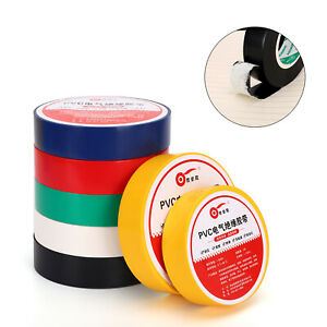 10 Rolls Electrical PVC Insulation Insulating Tape Flame Retardant Color