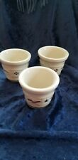 Longaberger Pottery Woven Traditions Candle Holders 3