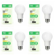 4 Pack LED Light Bulbs 15W 1600L Warm White 2700K  A19 Dimmable Omni Directional