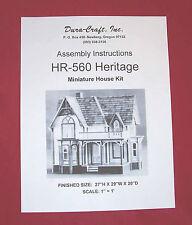 Dura-Craft  *HERITAGE* HR-560  Dollhouse Instructions