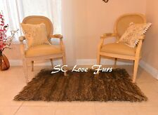 "72"" x 58"" Grizzly Bearskin Stripe Rectangle Rustic Area Rug Lodge Fashion"