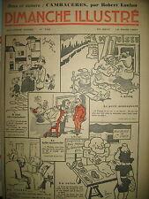 N° 733 REPORTAGES PHOTOS HISTOIRE ROMAN BD BICOT M. POCHE DIMANCHE ILLUSTRE 1937