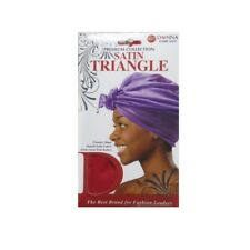 Donna Premium Collection Satin Triangle Head Wrap, Colors May Vary