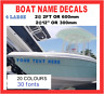 4 x LARGE CUSTOM PERSONALISED 60CM BOAT NAME / SSR Decals Stickers Graphics