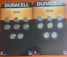 Duracell Dl2032 Cr2032 3V Single Use Lithium Batteries-2 Packs Of 8(16)Exp-2029