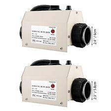 VEVOR Calentador de Agua para Piscina 2,7-3,3/3 kW Diámetro de Conexión 48/50mm