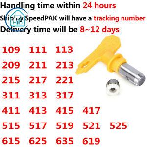 Airless Paint Spray Nozzle Gun Tip Yellow Sprayer Nozzle 111 211 311 411 615 ...