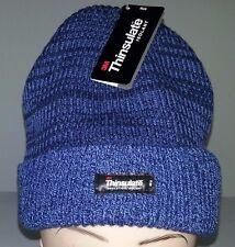 3M Thinsulate lined Acrylic Beanie Blue/Navy Warm Winter Ski Hat Watch Cap