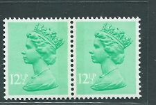 Gb unused Sg x899R-899L,12.5p, Scott Mh80 emerald Machin pr Mnh