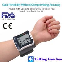 Automatic Digital Wrist Blood Pressure Monitor BP Cuff Machine fits all w/Voice