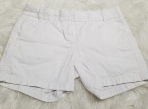 J. CREW White Cotton Blend Chino Shorts Size 4