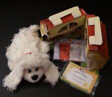 Mattel 2004 Pound Puppies Plush Puppy Dog Poodle Doghouse Adoption Certificate
