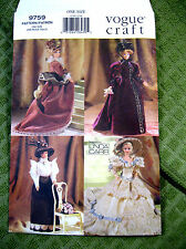 """Vogue 9759 Fashion Doll Period Costumes Linda Carr sewing pattern 11.5"""" Uncut"""