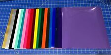 """12 12""""x12"""" Sheets Oracal 651 Craft Adhesive Vinyl For Cricut Choose or Mix Color"""