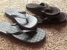 Lot Of 2 Men's Sz 9 Flip Flops - Body Glove & DC Brown & Gray Sandals, Nice!