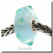 Authentic Trollbeads Glass 61165 Ice Blue Bud :1 RETIRED