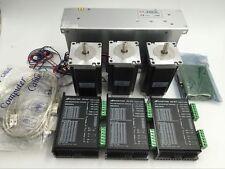 Stepper Motor Kit Nema23 3Axis 156oz.in L56mm 3A &Driver 5Axis Board Supply CNC