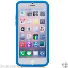 Custodia WALLET Cover AZZURRA FRONTE TRASPARENTE per Apple iPhone 6 4.7 Gomma