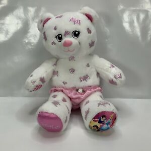 Build A Bear Disney Princess White And Pink With Love Heart Design Approx H43cm