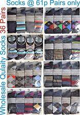 36 Pairs Designer Quality Men Gents Suit Casual Socks Wholesale Job Lot