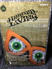 Halloween Gemmy 7' Projection Evil Eyes w/Orange Glasses Airblown Inflatable NIB