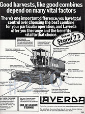 Laverda Combine Harvester Range Advert - 1978 Advertisement