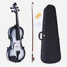 4/4 Size Student Violin Maple Fingerboard +Case +Bow+Bridge +Rosin-B&W
