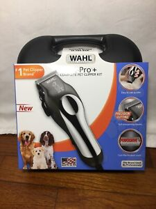 New WAHL Pet Pro+ Complete Pet Clipper Kit Dog Trimmer Home 12 Piece  All Coats