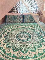 Mandala Indien Housse de Couette Coton Réversible & Oreillers Consolateur Art
