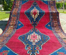 Antique 1900-1930s Turkish Tribal Runner 4'4'' x 11'7''