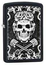 Zippo Rockabilly Skull Kolben auf Wunsch mit persönlicher Gravur 60002331 NEU