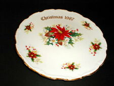 Royal Albert Bone China Christmas 1987 Poinsettia Plate/s (loc-83F)