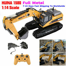 HUINA 1580 2.4G 1:14 3 in 1 RC Electric Model Excavator Engineering Vehicle RTR