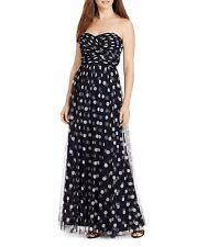 Strapless Polka-Dot Print Gown  by Lauren Ralph Lauren (Size 6)