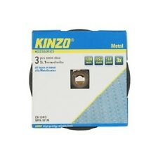 Kinzo Universal 3 Pack of Metal Grinder Discs 230mm Cutting Grinding Angle New